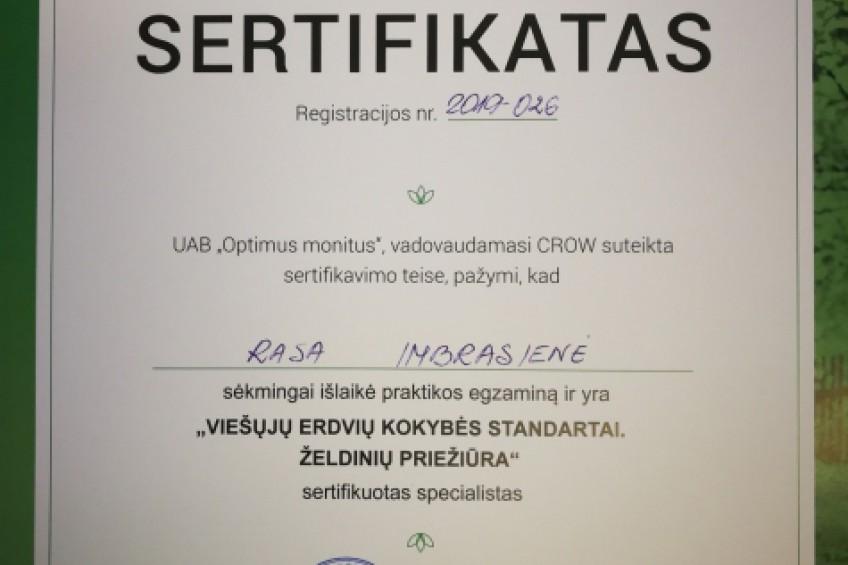 Lietuvoje įteikti pirmieji veks sertifikatai