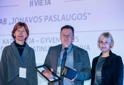 """Konkurse """"Pakuočių sektoriaus lyderiai 2017"""",  II vieta"""